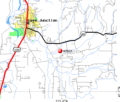 Cave Junction, OR (97523) map