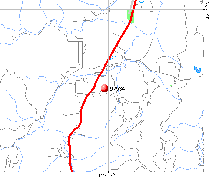 O'Brien, OR (97534) map