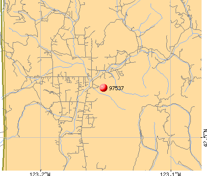 Wimer, OR (97537) map