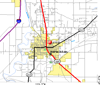 Hermiston, OR (97838) map