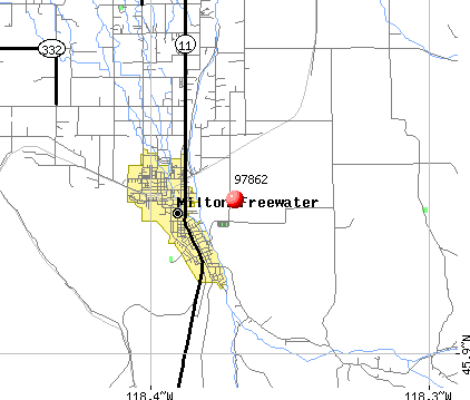 Milton-Freewater, OR (97862) map