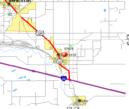 Stanfield, OR (97875) map