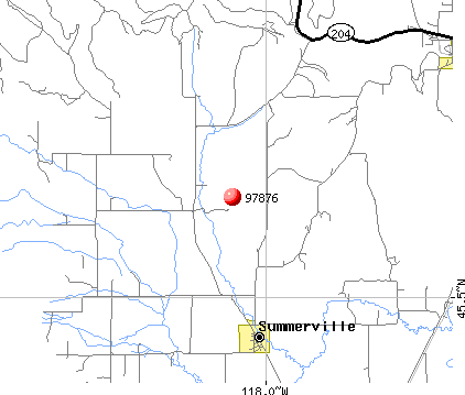 Summerville, OR (97876) map