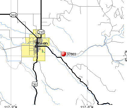 Union, OR (97883) map