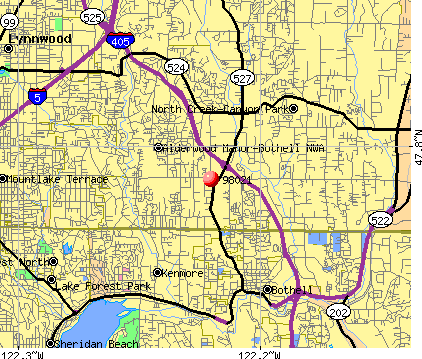 Bothell, WA (98021) map