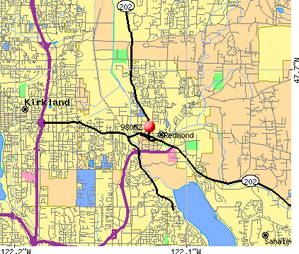 Redmond, WA (98052) map