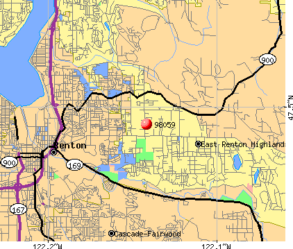 East Renton Highlands, WA (98059) map