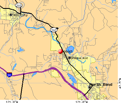 Snoqualmie, WA (98065) map