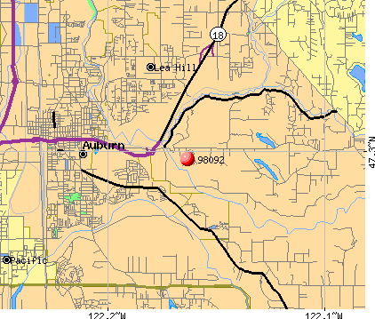 Auburn, WA (98092) map