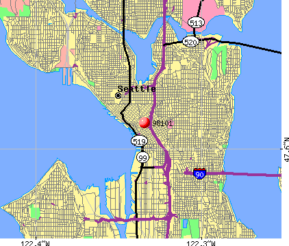 Seattle, WA (98101) map