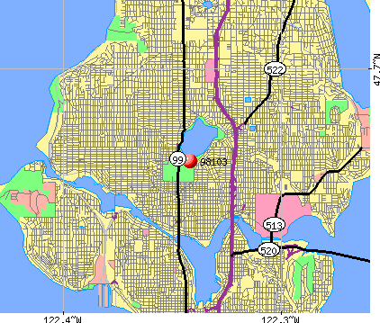 Seattle, WA (98103) map