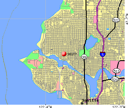 Seattle, WA (98107) map