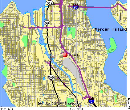 Seattle, WA (98108) map
