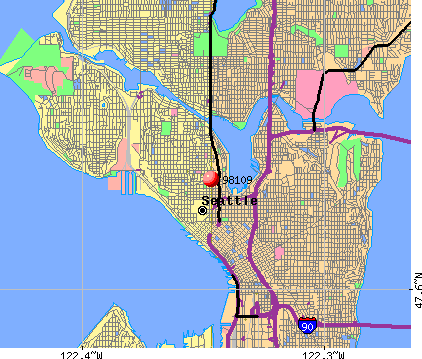 Seattle, WA (98109) map