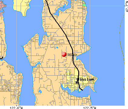 Bainbridge Island, WA (98110) map