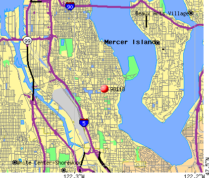 Seattle, WA (98118) map