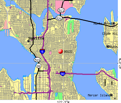 Seattle, WA (98122) map