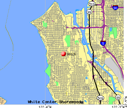 Seattle, WA (98126) map