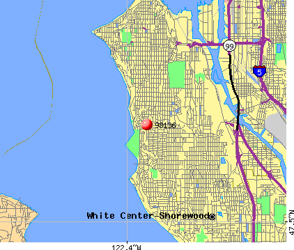 Seattle, WA (98136) map