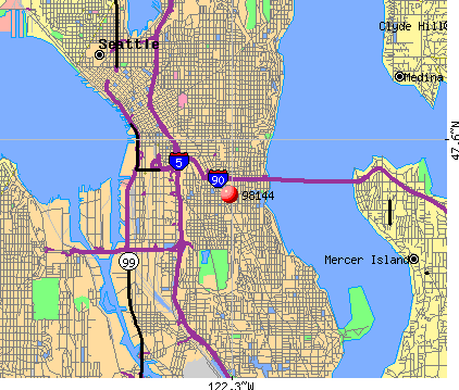 Seattle, WA (98144) map