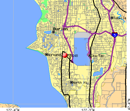 Burien, WA (98148) map