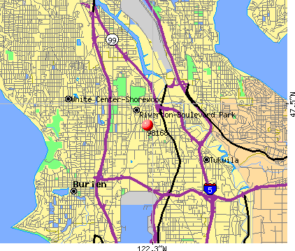 Tukwila, WA (98168) map