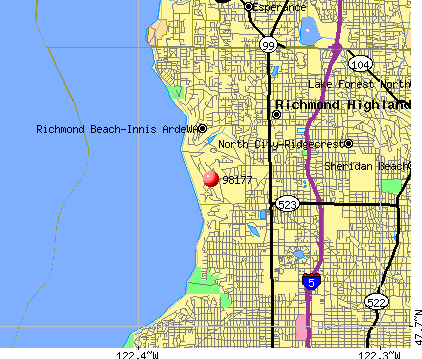 Shoreline, WA (98177) map