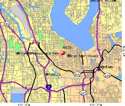 Bryn Mawr-Skyway, WA (98178) map
