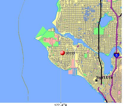Seattle, WA (98199) map