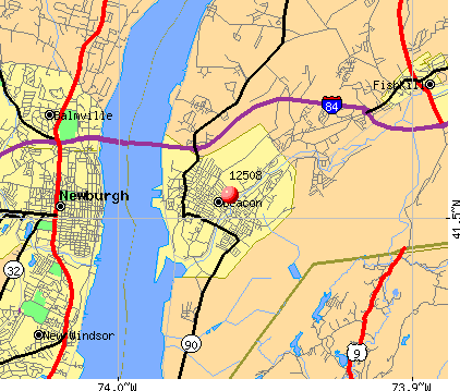 Beacon, NY (12508) map