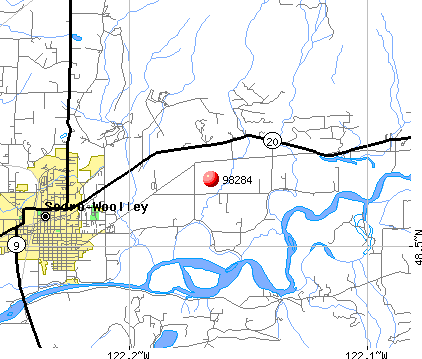 Sedro-Woolley, WA (98284) map