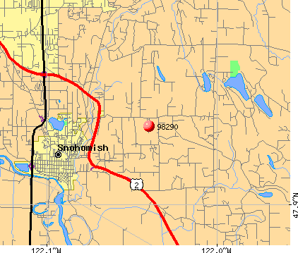 Three Lakes, WA (98290) map