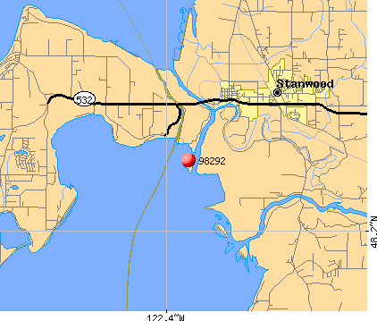 Warm Beach, WA (98292) map