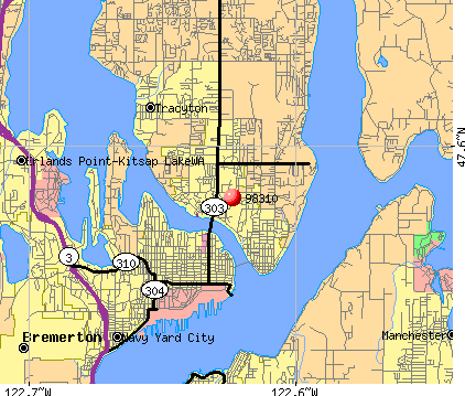 Bremerton, WA (98310) map
