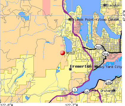Bremerton, WA (98312) map