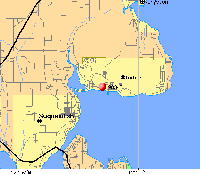 Indianola, WA (98342) map
