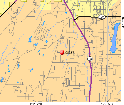 Bremerton, WA (98367) map