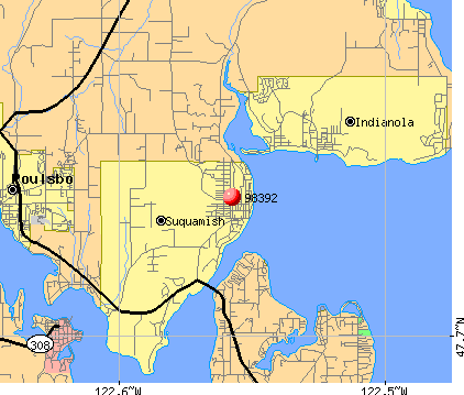 Suquamish, WA (98392) map