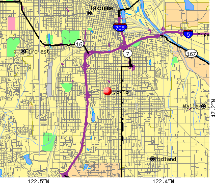 Tacoma, WA (98408) map