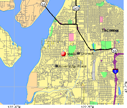 University Place, WA (98466) map