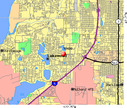 Lakewood, WA (98499) map