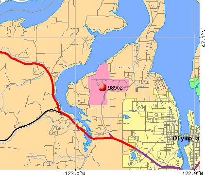 Olympia, WA (98502) map