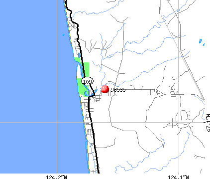 Copalis Beach, WA (98535) map