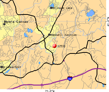 Hopewell Junction, NY (12533) map