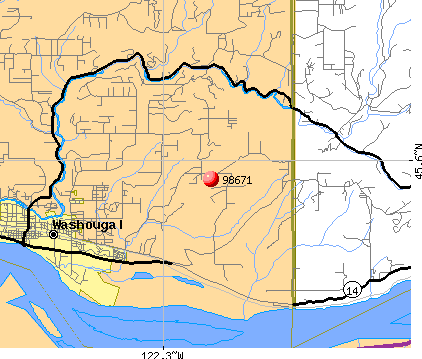 Washougal, WA (98671) map