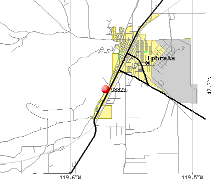 Ephrata, WA (98823) map