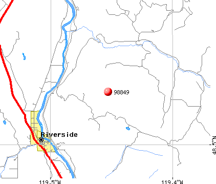 Riverside, WA (98849) map