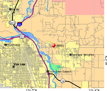 Terrace Heights, WA (98901) map