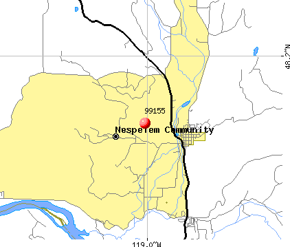 Nespelem Community, WA (99155) map