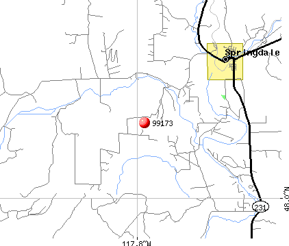 Springdale, WA (99173) map